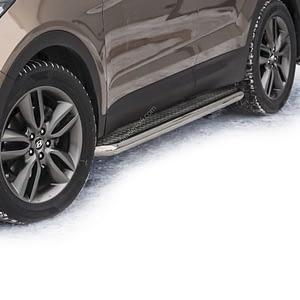 Praguri cu treaptă lată din Inox - Hyundai Santa Fe '12 - Prezent