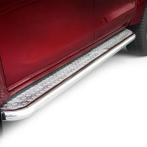 Praguri cu treaptă lată din Inox - Toyota Hilux '15 - Prezent