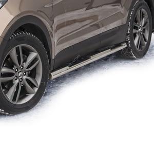 Praguri cu treaptă din Inox - Hyundai Santa Fe '12 - Prezent