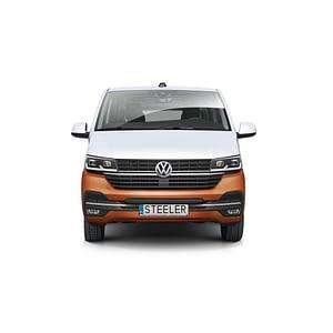 Bullbar Omologat - Low 3 Negru Volkswagen Transporter T6 '15 - Prezent