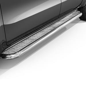 Praguri cu treaptă lată din Inox - Mercedes-Benz X-Class '17 - Prezent