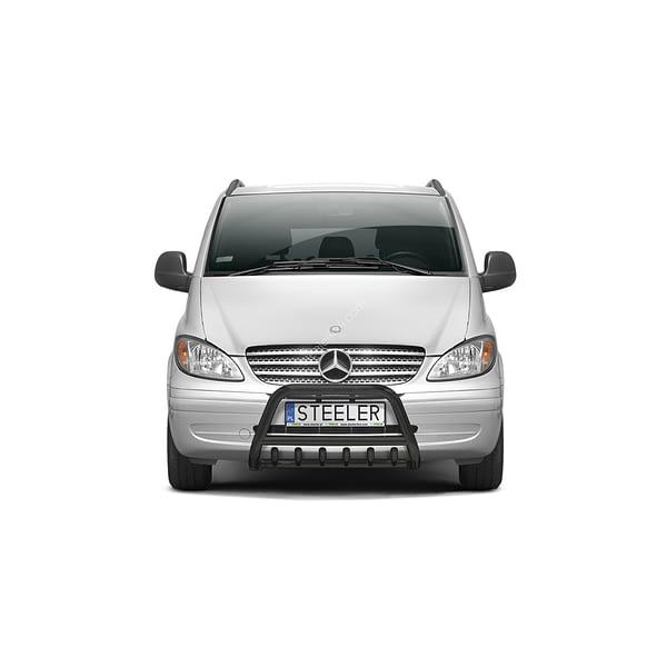 Bullbar Omologat - Model 1 Negru Mercedes-Benz Vito '03 - '10