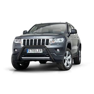 Bullbar Omologat - Model 3 Negru Jeep Grand Cherokee '11 - '14