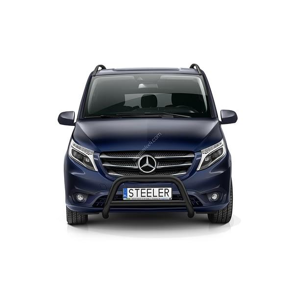 Bullbar Omologat - Model 3 Negru Mercedes-Benz Vito '15 - Prezent
