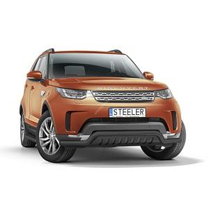 Bullbar Omologat - Low 2 Negru Land Rover Discovery '17 - Prezent
