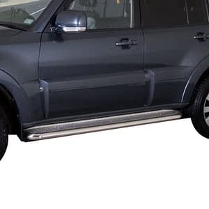 Praguri cu treaptă lată din Inox - Mitsubishi Pajero '07 - '15