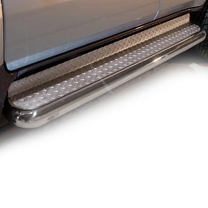 Praguri cu treaptă lată din Inox - Toyota Land Cruiser '02 - '09