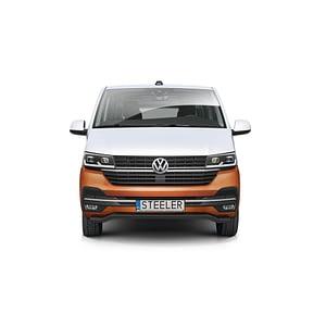 Bullbar Omologat - Low 2 Negru Volkswagen Transporter T6 '15 - Prezent