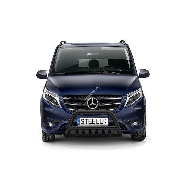 Bullbar Omologat - Model 2 Negru Mercedes-Benz Vito '15 - Prezent