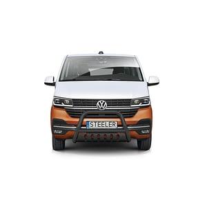 Bullbar Omologat - Model 2 Negru Volkswagen Transporter T6 '15 - Prezen
