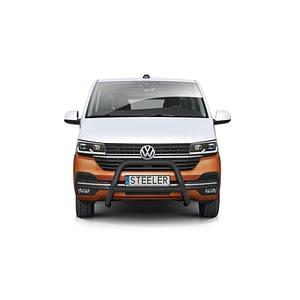 Bullbar Omologat - Model 3 Negru Volkswagen Transporter T6 '15 - Prezen