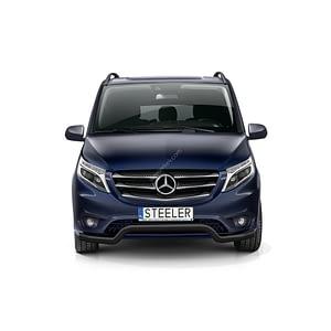 Bullbar Omologat - Low 3 Negru Mercedes-Benz Vito '15 - Prezent