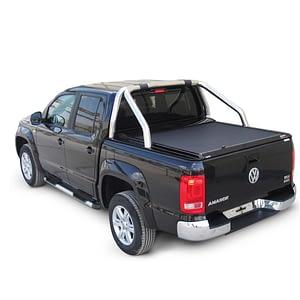 Rulou benă Double Cab negru mat Volkswagen Amarok - '17 - Prezent cu rollbar OEM 1